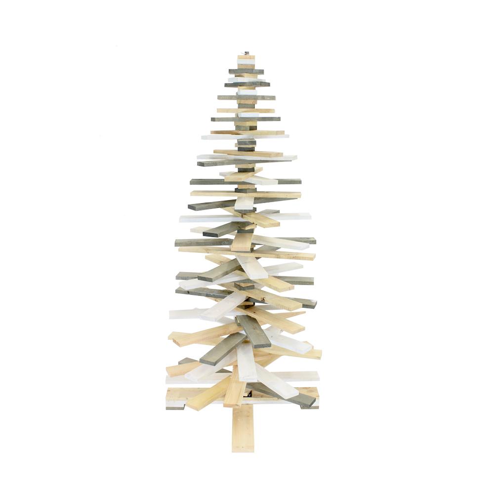 Houten Kerstboom 3d Hoogte 172 Cm Aanbieding Sloophout
