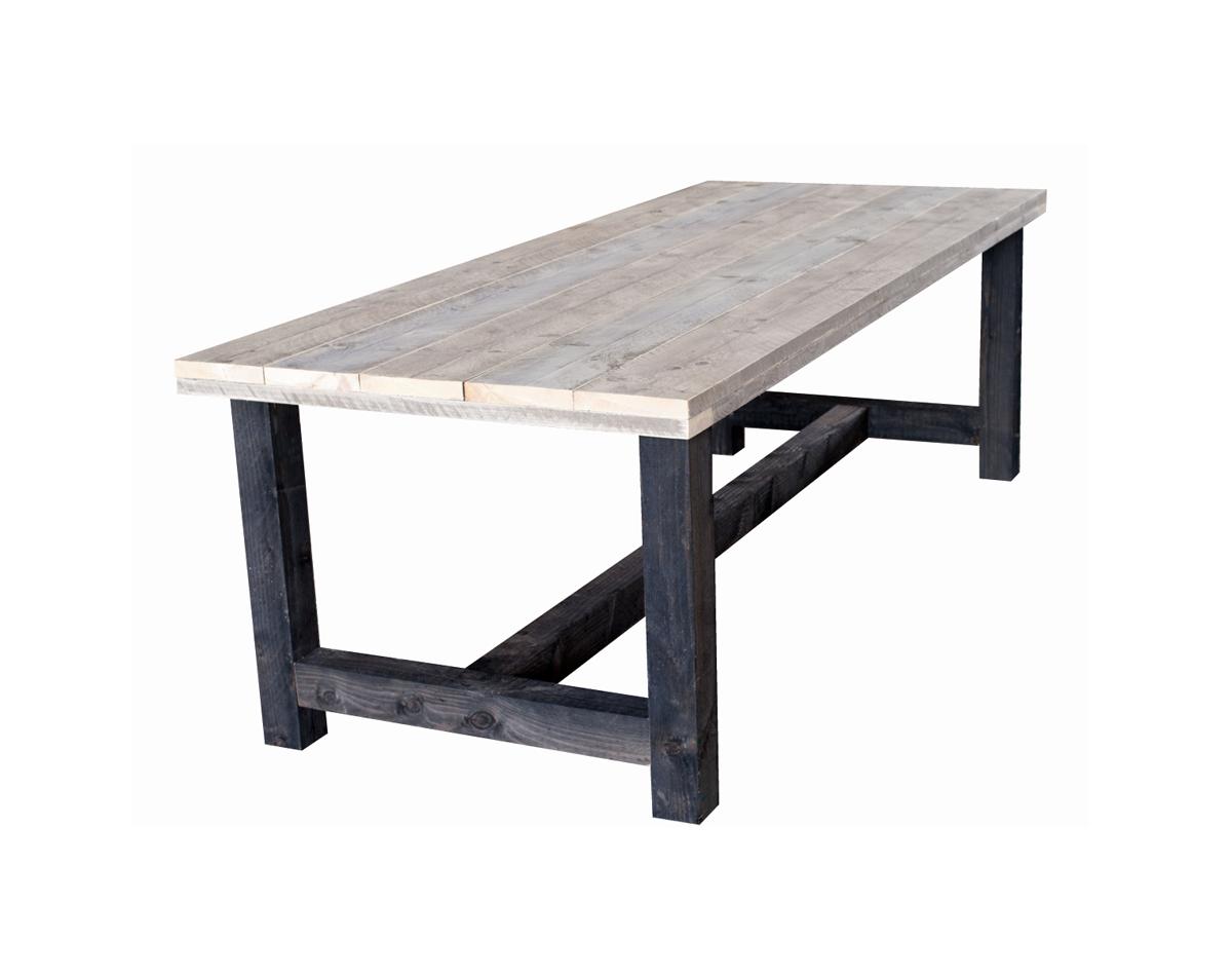 Tafel Met Poten.Steigerhout Eettafel 240 X 100 X 78 Cm Antraciet Poten