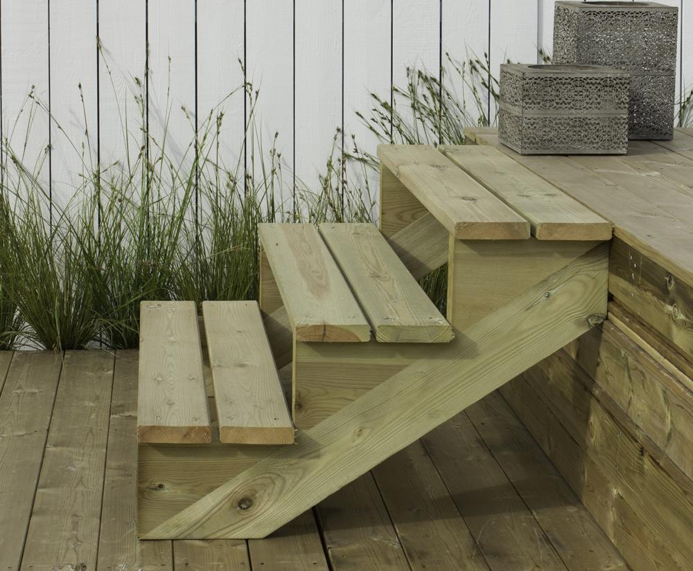 Treppenwange Holz imprägniert 20 Stufen