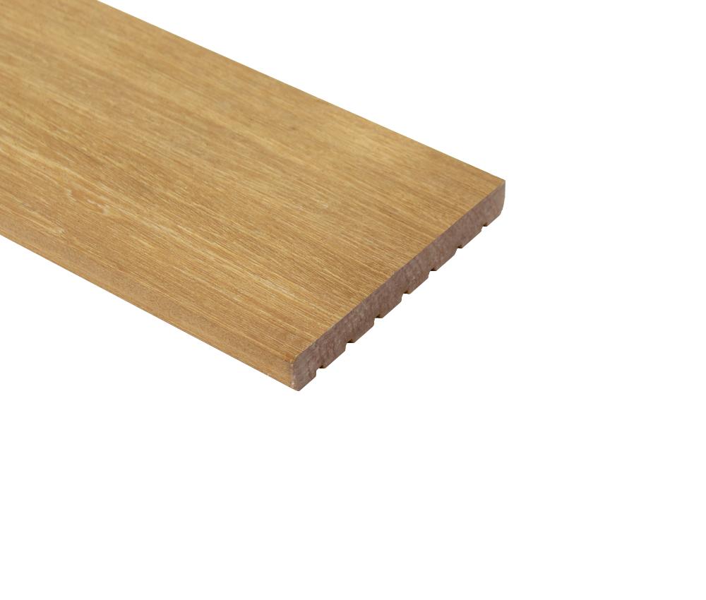 Lames De Terrasse Bois lame de terrasse en bois dur bankirai 2.1 x 14.5 x 305 cm rainuré/lisse
