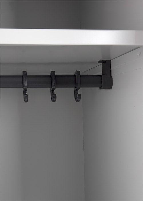Garderobekast 2-deuren 180 x 60 x 50cm Leverbaar in 3 kleuren 6