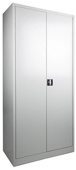 Garderobekast Grijs Met Hang en Leg 2 Deurs Verkrijgbaar in 3 kleuren 180cm hoog