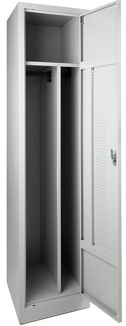 Garderobekast Perfo 1-deur 180 x 41 x 50cm Leverbaar in 2 kleur Combinaties 33