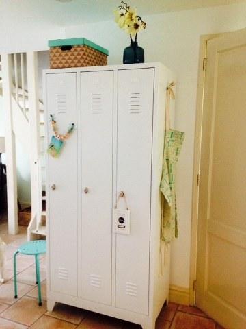 Garderobekast Lockerkast Grijs Met Hang en Leg 2 Deurs Nieuw