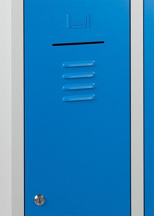 Lockerkast 4-deurs 195 x 60 x 50cm in 2 Kleur Combinaties