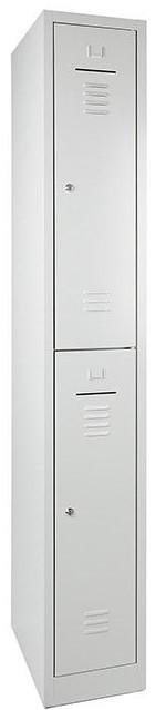 Lockerkast 2-deurs 195 x 30 x 50cm in 2 Kleur Combinaties