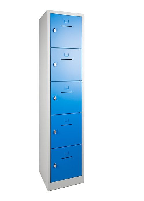 Lockerkast 5-deurs 190 x 41 x 45cm in 5 Kleur Combinaties 4