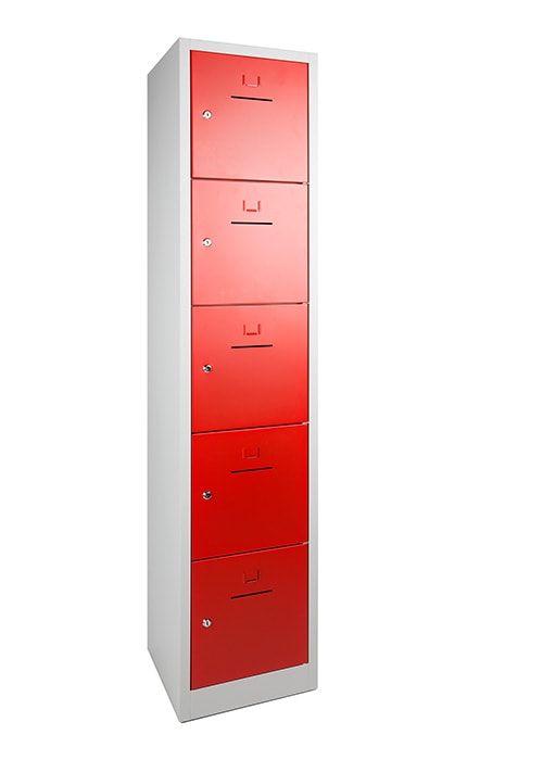 Lockerkast 5-deurs 190 x 41 x 45cm in 5 Kleur Combinaties