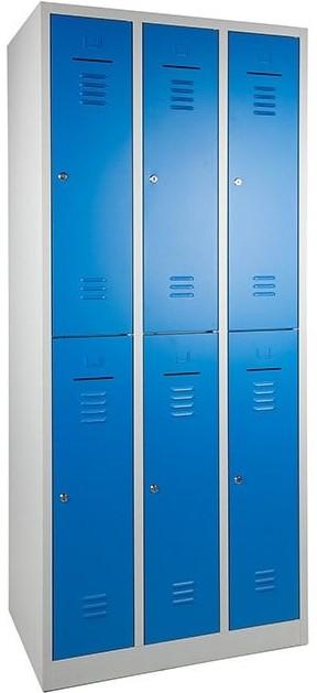 Lockerkast 6-deurs 195 x 89 x 50cm in 2 Kleur Combinaties 22
