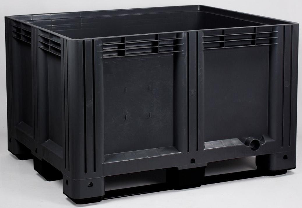 Pallet box Gebruikt gesloten met 3 sledes 120 x 100 x 76 cm 610 liter