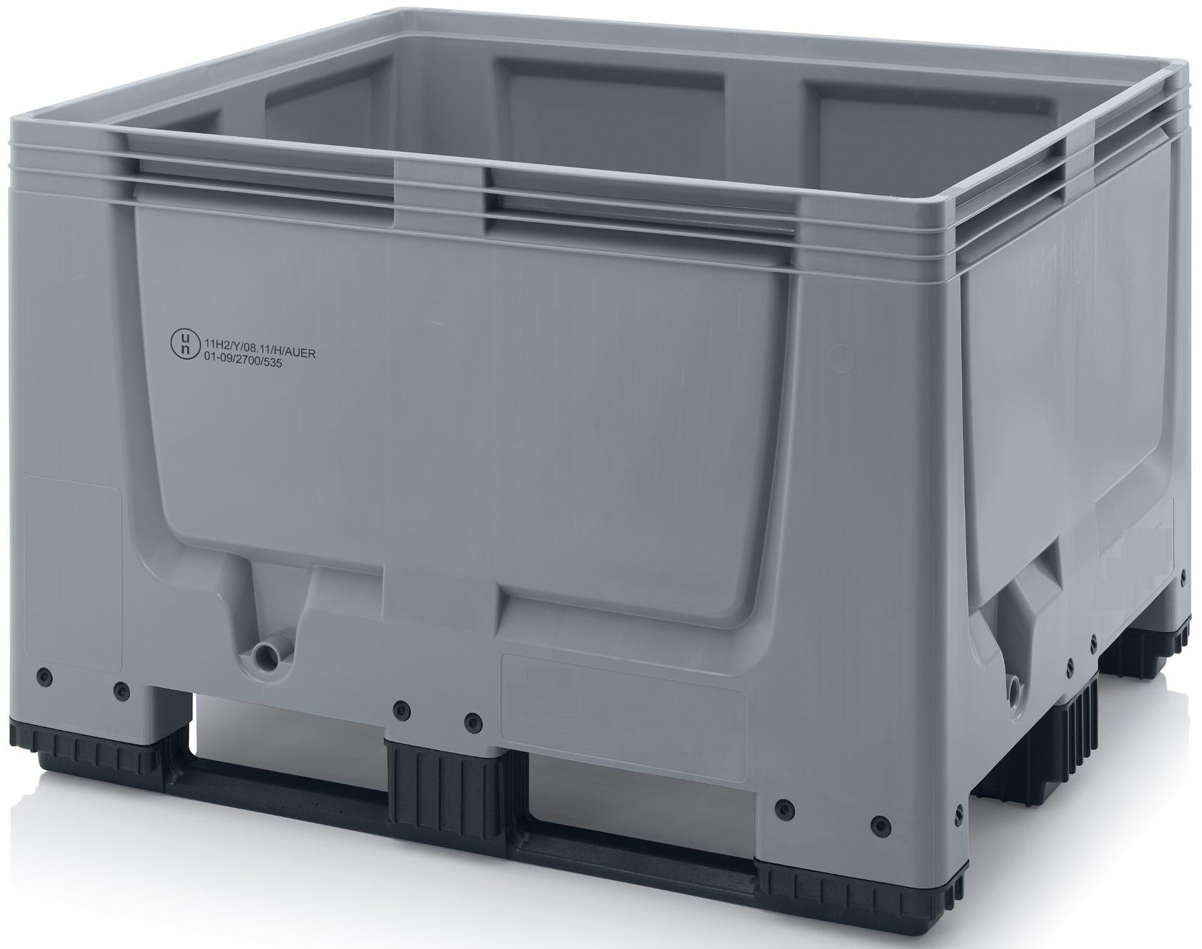 Pallet box gesloten met 3 sledes, UN keur 120X100x79cm LXBXH