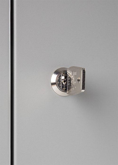 Lockerkast 6-deurs 195 x 60 x 50cm Grijs cilinderslot