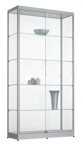 Vitrinekast 200x100x40cm Zwart Of Aluminium