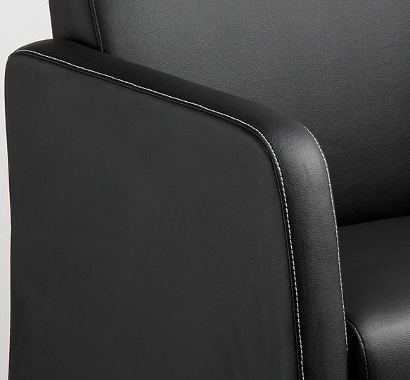 Clubfauteuil zwart leatherlook 2