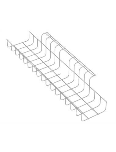 Deze universele kabelkorf kan onder iedere bureautafel bevestigd worden.  Handig voor opslag van stekkers en stekkerdozen.  Lengte 79cm