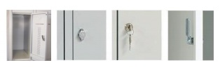 Lockerkast 6-deurs 195 x 60 x 50cm Grijs 1
