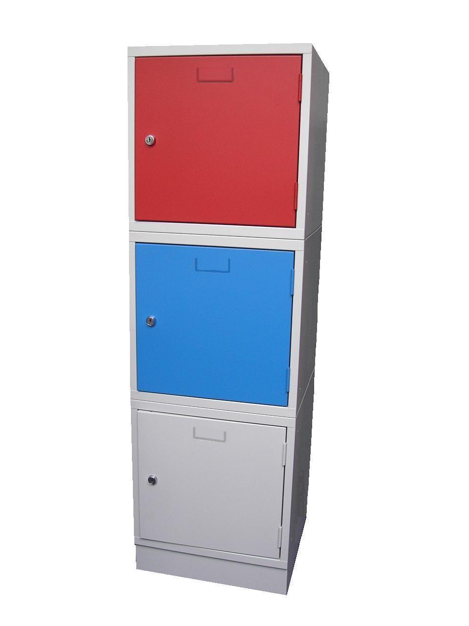 Lockerkast 1 Deurs 38 x 38 x 38 in 3 kleur combinaties