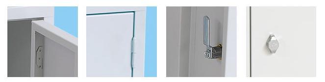 Lockerkast 1 Deurs 38 x 38 x 38 in 3 kleur combinaties 3