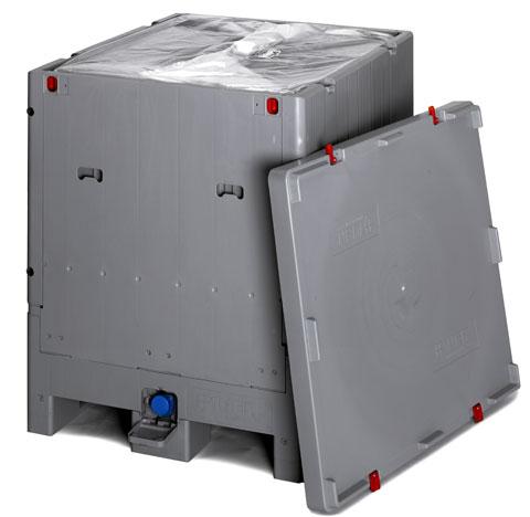 IBC container opvouwbaar 1000 liter 120 x 100 x 125 cm