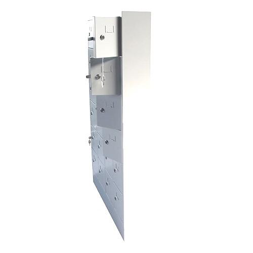 Lockerkast PEL 24-deurs 131 x 80 x 15cm Grijs