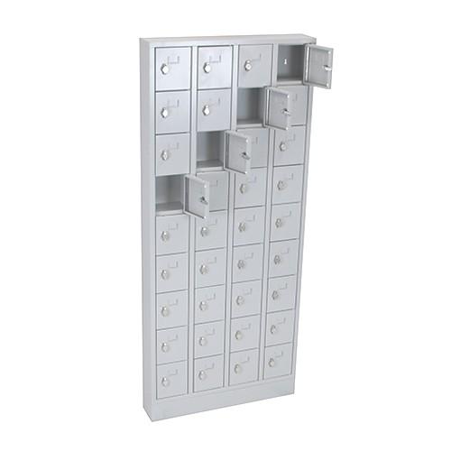 Lockerkast PEL 36-deurs 188 x 80 x 15cm Grijs 1