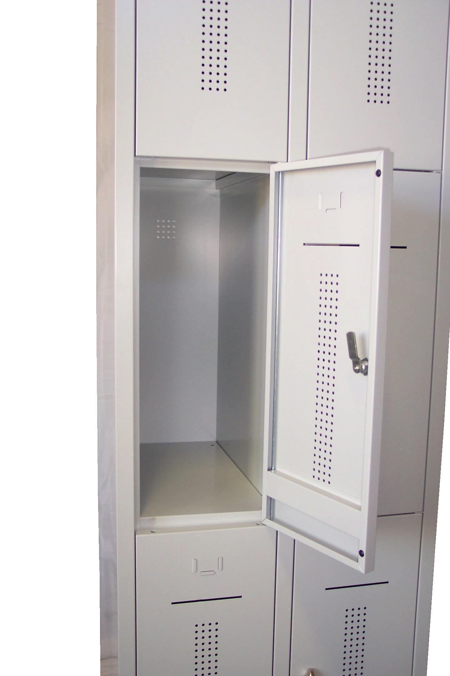 Lockerkast 6-deurs 195 x 60 x 50cm Grijs 12