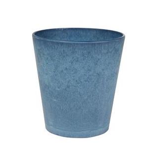 Blauwe bloempotten zijn er voor binnen en buiten