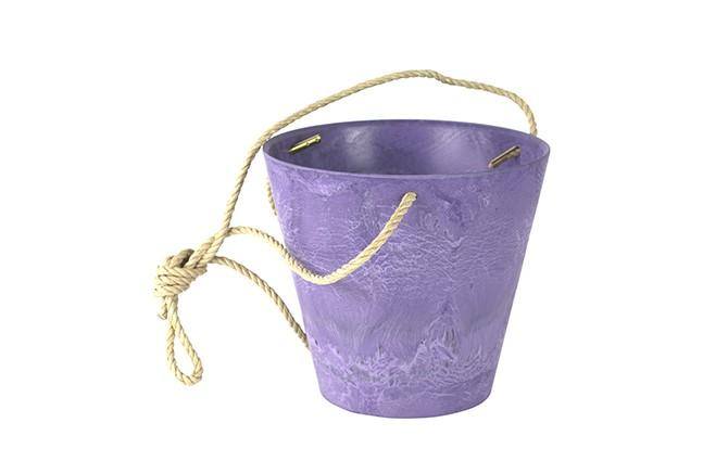Een paarse bloempot kopen doet u bij haxo