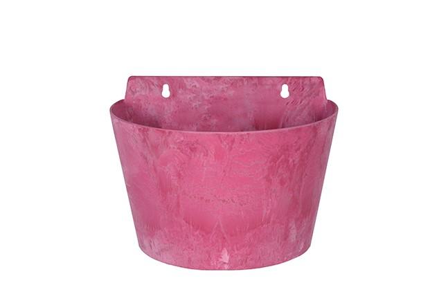 Roze bloempotten zijn verkrijgbaar in verschillende soorten en maten.