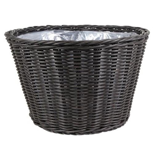 De bruine bloempotten van Haxo zijn verkrijgbaar in meerdere materialen.