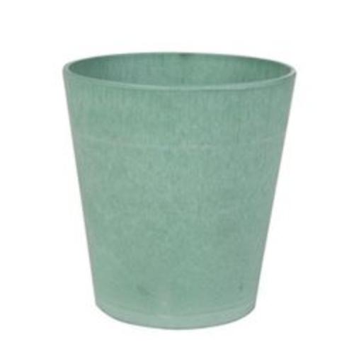De groene bloempotten zijn verkrijgbaar in meerdere kleuren groen