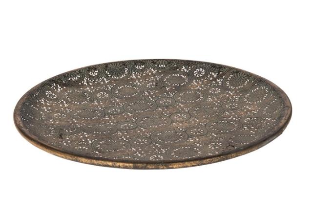 Dijk Natural Collections | Rond Metalen Schaal