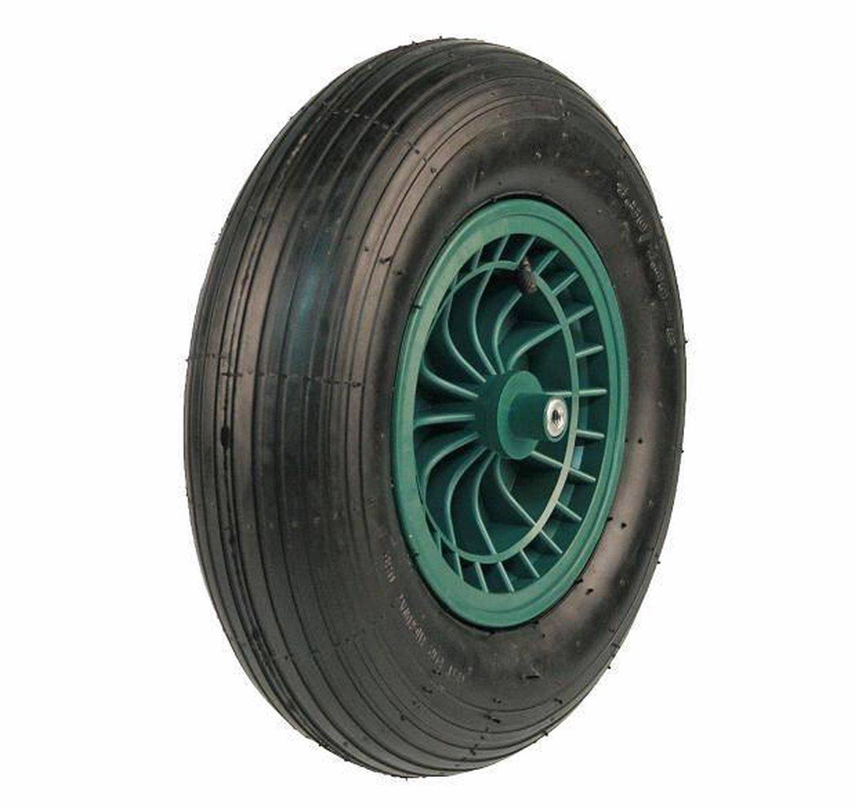 Kruiwagen Wiel 4.00 - 8 Luchtband Lijnprofiel - Asdiameter 20mm