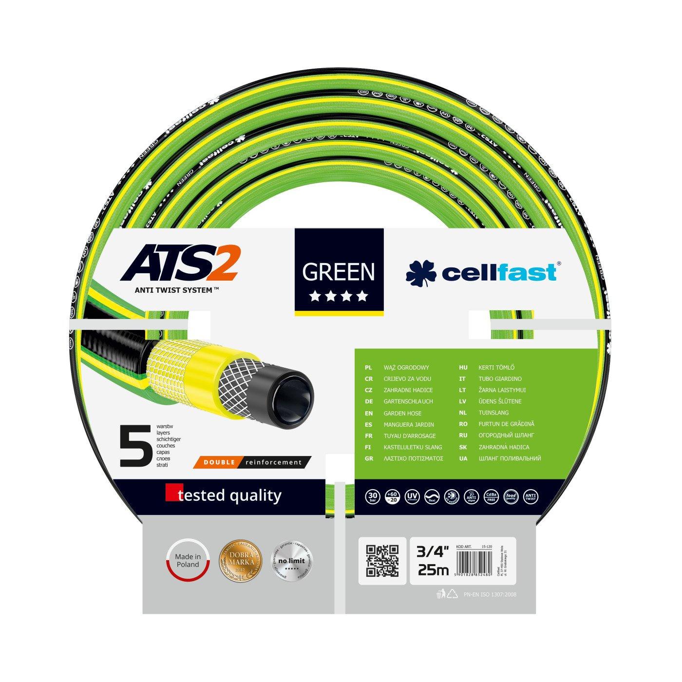 CELLFAST - TUINSLANG - GREEN ATS2™ - 3/4