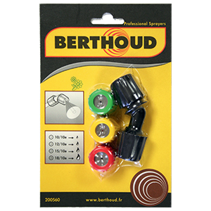 Berthoud 4 delige spuitkoppenset