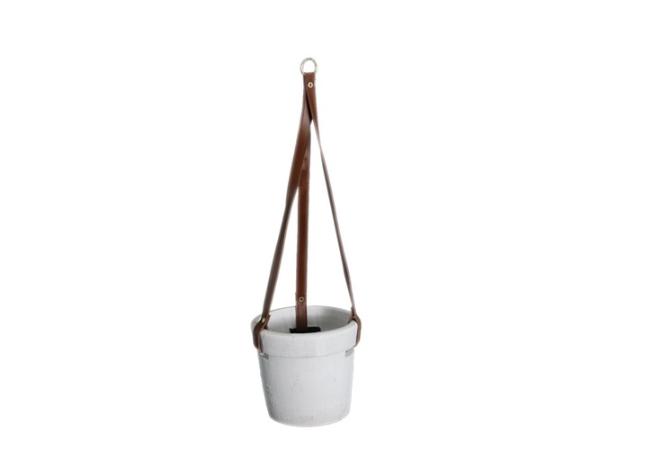 Dijk Natural Collections | Hangende Pot Terracotta Wit M