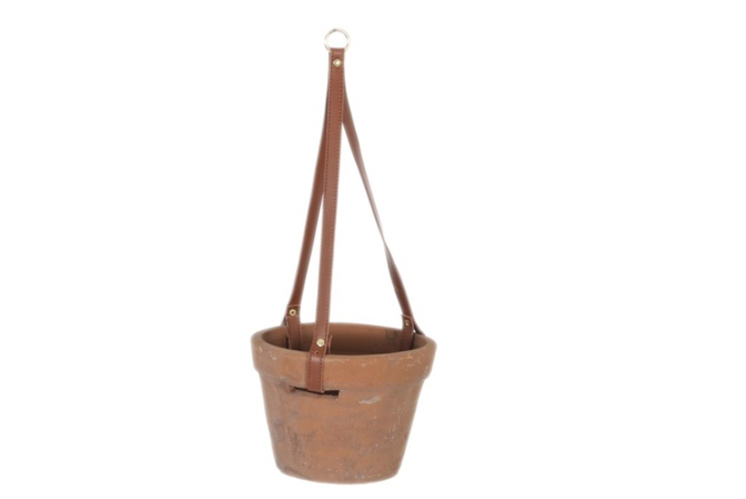 Dijk Natural Collections | Hangende Pot Terracotta Rood/Grijs L