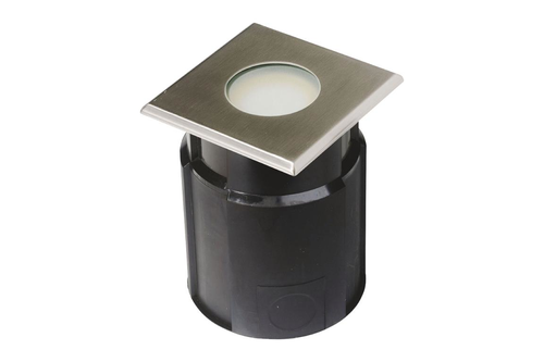 SQUARE LAMP TO EMBED IN GROUND 12X12 CM (STAINLESS 316L) - IP65/67 - MR20 - LED 4W - WARM