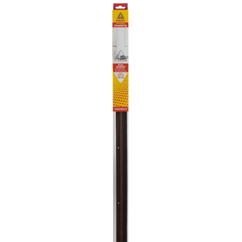 Deltafix Dorpelstrip | Schroefbaar Borstel Bruin | 1.10m x 40mm x 20mm