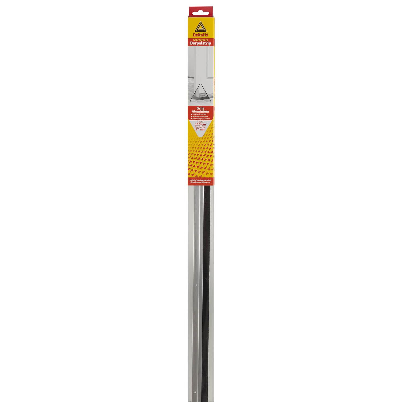 Deltafix Dorpelstrip | Schroefbaar Borstel Aluminium | 1.10m x 30mm x 17mm