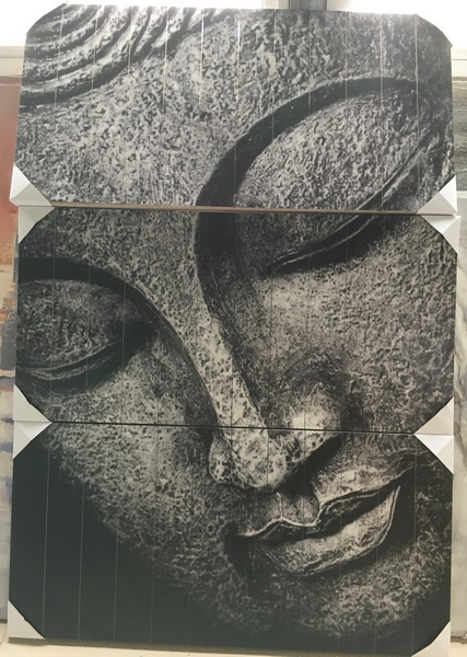 Dijk Natural Collections   Houten Wanddecoratie Boeddha 118 x 174 cm