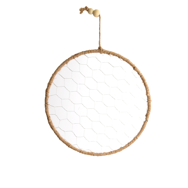 Dijk Natural Collections Hangend Touw Frame Kippengaas Rond 28cm