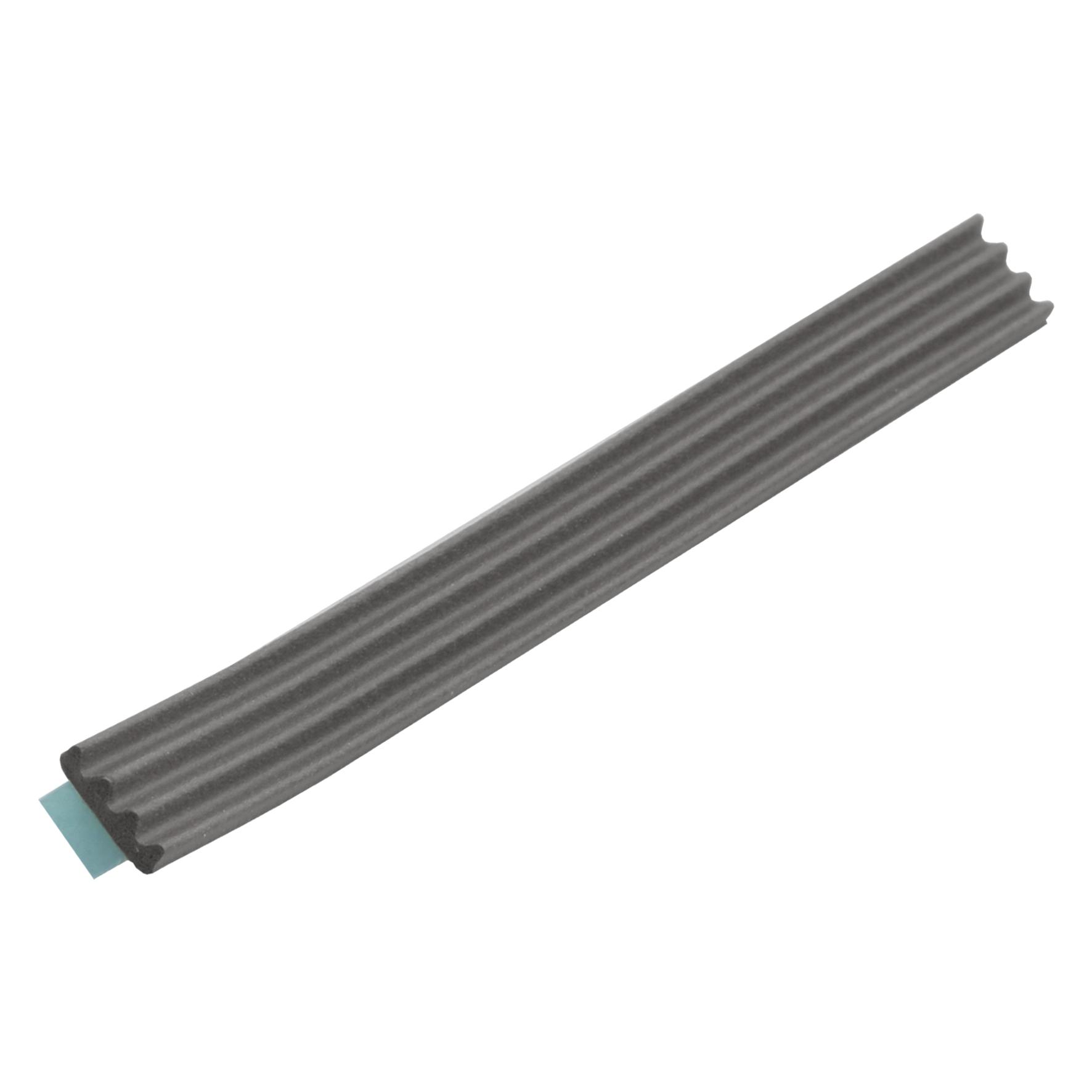 Ellen - Tochtband k-profiel - zwart - 9x3 - 7.5m