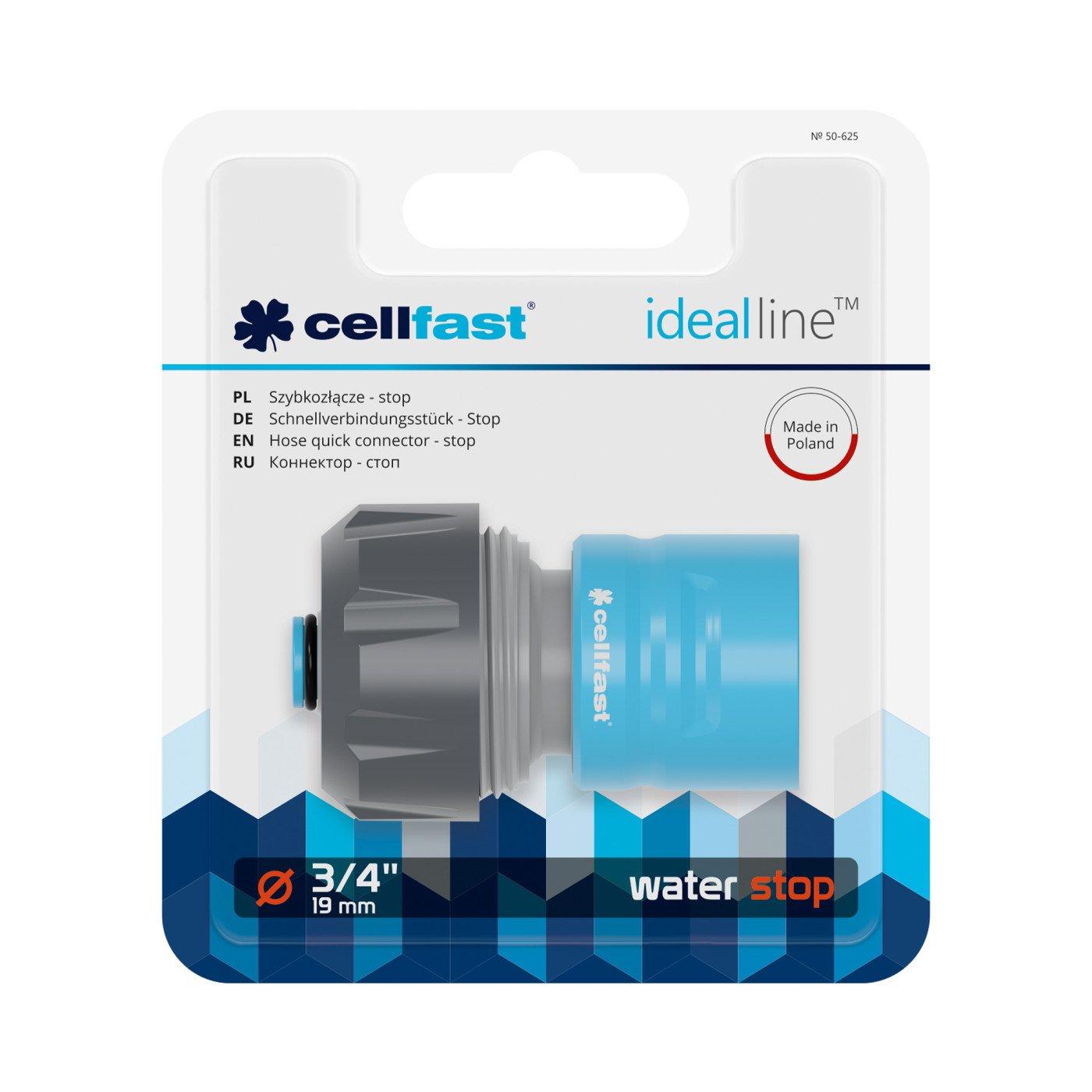 CELLFAST - SNELLE SLANGKOPPELING - MET WATERSTOP - IDEAL LINE™ PLUS - 3/4
