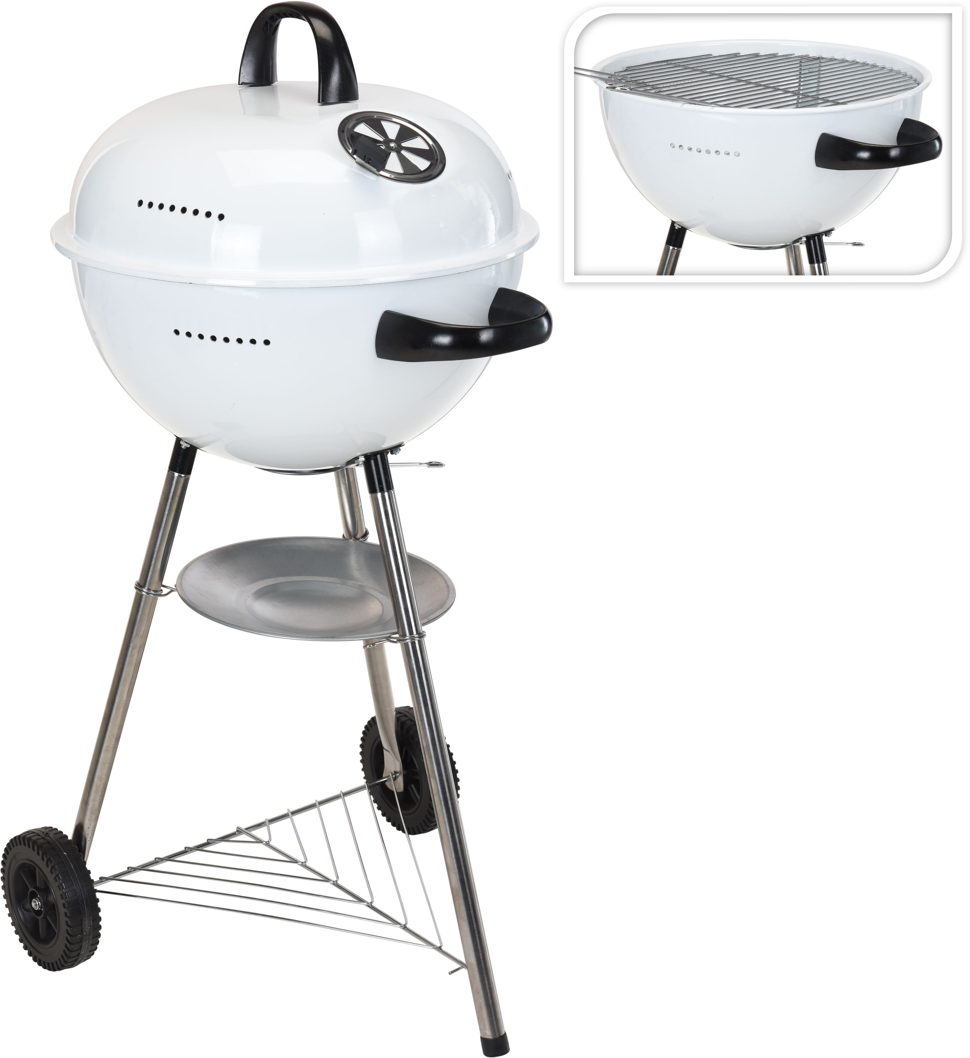 BBQ Barbecue Bolvormig 48cm Wit
