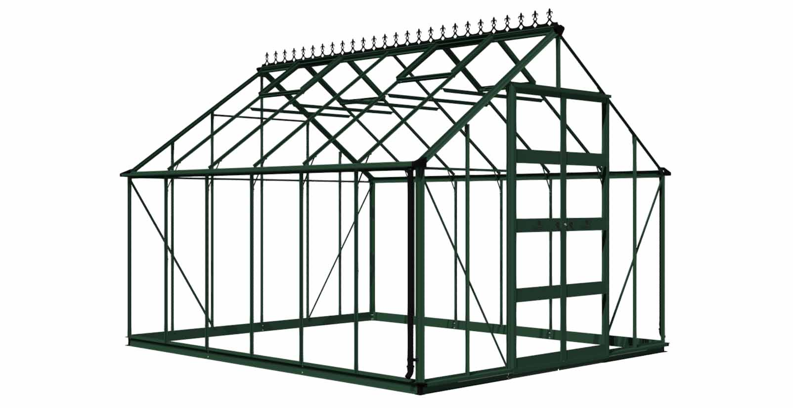 Royal Well Tuinkas Bourton 1210 Groen Gecoat Polycarbonaat 6mm