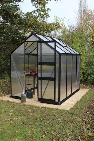 Royal Well Tuinkas Burford 86 Zwart Gecoat Polycarbonaat 6mm