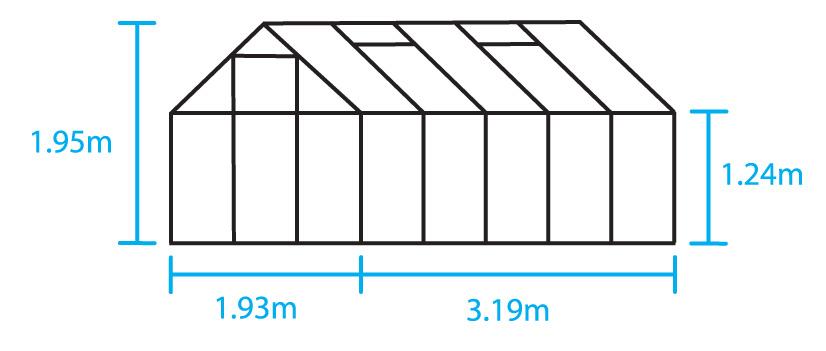 Royal Well Tuinkas Popular 106 Groen Gecoat Polycarbonaat 4mm