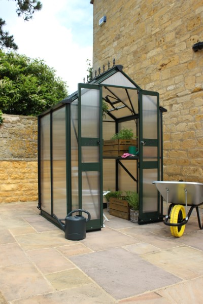Royal Well Tuinkas Birdlip 44 Groen Gecoat Polycarbonaat 6 mm