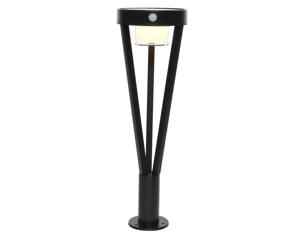 Solar Staande Lamp RVS Zwart Kort